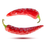Polygonal red peppers Stock Images