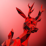 Polygonal Reindeer Royalty Free Stock Image