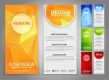 Polygonal reklamblad för designgeometri Fotografering för Bildbyråer