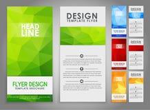 Polygonal reklamblad för designgeometri Royaltyfri Bild