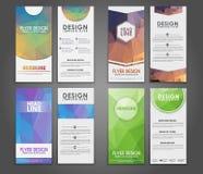 Polygonal reklamblad för designgeometri Arkivfoto