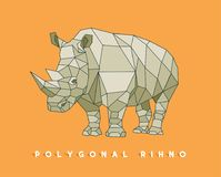 Polygonal rhino– stock illustration – stock illustration file. Polygonal rhino – stock illustration – stock illustration filen file vector illustration