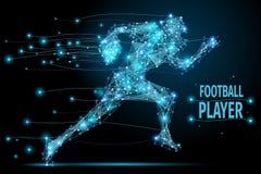 Polygonal rinnande fotbollsspelare royaltyfri illustrationer