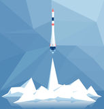 Polygonal rocket launch Stock Images