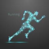 Polygonal running man Stock Photography