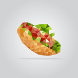 Polygonal sandwich illustration Stock Image