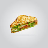 Polygonal sandwich illustration Stock Photography
