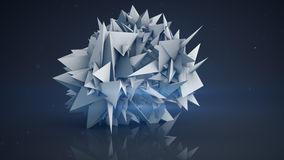 Polygonal shape abstract 3D render Royalty Free Stock Photography