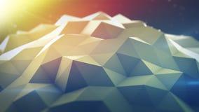 Polygonal shape 3D render. Polygonal shape. Abstract geometrical modern background. 3D render illustration Royalty Free Stock Photo