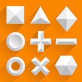 Polygonal shapes vector white. Vector illustration art Royalty Free Stock Photo