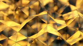Polygonal shiny shape 3D rendering with DOF. Polygonal shiny shape. Abstract background. 3D rendering with DOF Stock Photos