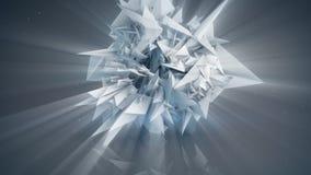 Polygonal shiny shape abstract 3D render Royalty Free Stock Photo