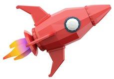 Polygonal space rocket Stock Photography