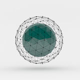 Polygonal sphere with connected lines and dots Stock Photos