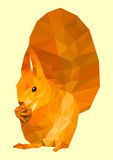 Polygonal squirrel. Vector illustration. Royalty Free Stock Photography