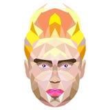 Polygonal stående av en man Royaltyfri Illustrationer