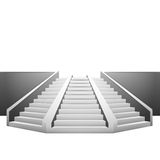 Polygonal staircase on white background Royalty Free Stock Image