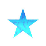 Polygonal star vector background. Low poly blue star make with triangles. Flickering polygonal star vector background Royalty Free Stock Image