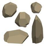 Polygonal stenuppsättning bakgrund isolerad white Isometriskt tävla Royaltyfria Bilder