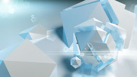 Polygonal stones with Lens flare Royalty Free Stock Photography