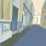 02 Polygonal Street. The illustration of polygonal street. Vector image Royalty Free Stock Images