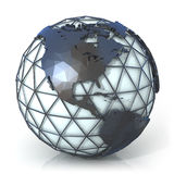 Polygonal style illustration of earth globe, America view Royalty Free Stock Images
