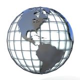 Polygonal style illustration of earth globe, America view Stock Photo