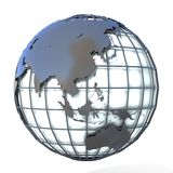 Polygonal style illustration of earth globe, Asia and Oceania view Royalty Free Stock Photo