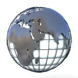 Polygonal style illustration of earth globe, Europe and Africa view Stock Images