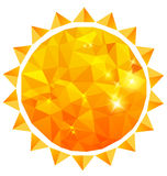 Polygonal sun background Royalty Free Stock Photo