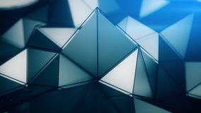 Polygonal surface close-up 3D render Stock Photos