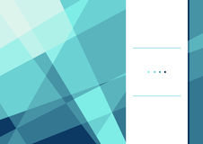 Polygonal template. Vector illustration of polygonal flyer design template. Stylish blue crystal. Can be used as flyer, cover, business cards, envelope, and Stock Photography