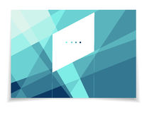 Polygonal template royalty free illustration