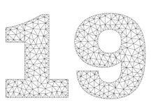 Polygonal textetikett för ingrepp 19 stock illustrationer