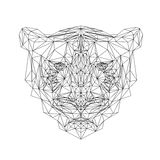 Polygonal tiger animal. Vector tiger illustration for tattoo, coloring, wallpaper and printing on t-shirts. Cat Royalty Free Stock Photos