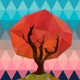 Polygonal tree illustration Stock Photography