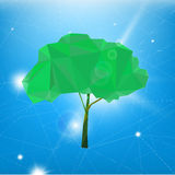 02 Polygonal Tree. The illustration of polygonal tree. Vector image Stock Photo