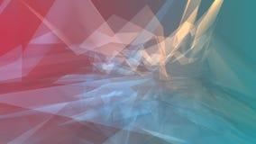 Polygonal triangelmall, dynamisk digital energi Royaltyfri Bild