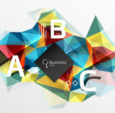 Polygonal triangle abstract background with infographics Royalty Free Stock Images