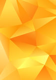 Polygonal triangle shapes vector abstract yellow background template