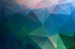 Polygonal triangle vector background, blue, rose, green. And turquoise colored Royalty Free Stock Photos