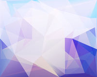 Polygonal triangle vector background, blue, rose and turquoise c Stock Photos