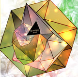 Polygonal triangles and space background Royalty Free Stock Photos