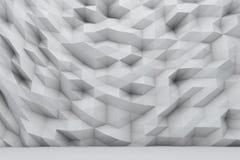 Polygonal vägg stock illustrationer