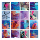 Polygonal  vector background set. Royalty Free Stock Photos