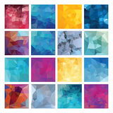 Polygonal  vector background set. Stock Image