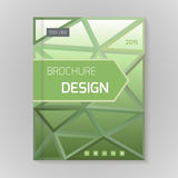 Polygonal vector design template layout for brochure Stock Image