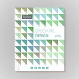 Polygonal vector design template layout for brochure Stock Images