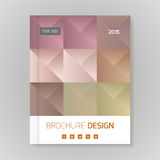Polygonal vector design template layout for brochure Royalty Free Stock Image