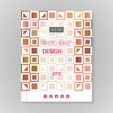 Polygonal vector design template layout for brochure Royalty Free Stock Photo
